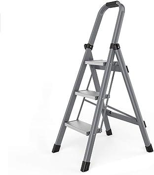 Escalera móvil pequeña de tres pasos Escalera plegable gruesa de aleación de aluminio multifunción Escalera interior for el hogar: Amazon.es: Bricolaje y herramientas