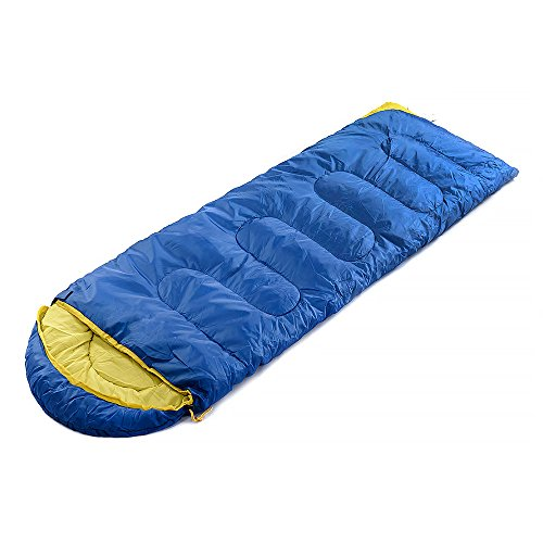 STAR HOME 3 Season Sleeping Bags Portable Envelope Cold Weather Travel Bags Color Blue Review