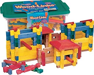 product image for ROY TOY Woodlinks Fort Building Set, Made in The USA!