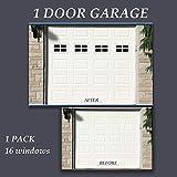 skysen 16pcs Magnetic Faux Garage Door Decoration