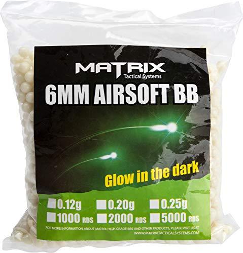Evike Matrix Match Grade 6mm Glow-in-The-Dark Airsoft Tracer BB - 0.20g / Green / 5000rds - (PID: 23823) ()