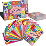 Upgraded Alphabet Go Fish Classic Card Game, ABC Uppercase Lowercase Letters Learning Animal Picture Recognition Card Game for Kids - 52 Cards