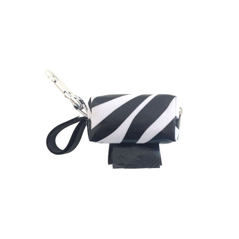 Doggie Walk Bags Designer Duffle Bags for Dogs Unscented Zebra Black