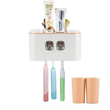 Gika R - Organizador de baño Multiusos con Soporte para Cepillo de Dientes y dispensador de