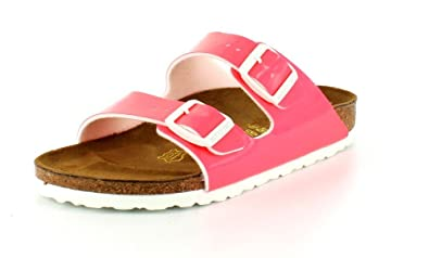 41e9b4a4d420 Image Unavailable. Image not available for. Color  Birkenstock Women s  Arizona Neon Pink Patent Birko-Flor¿ Sandal