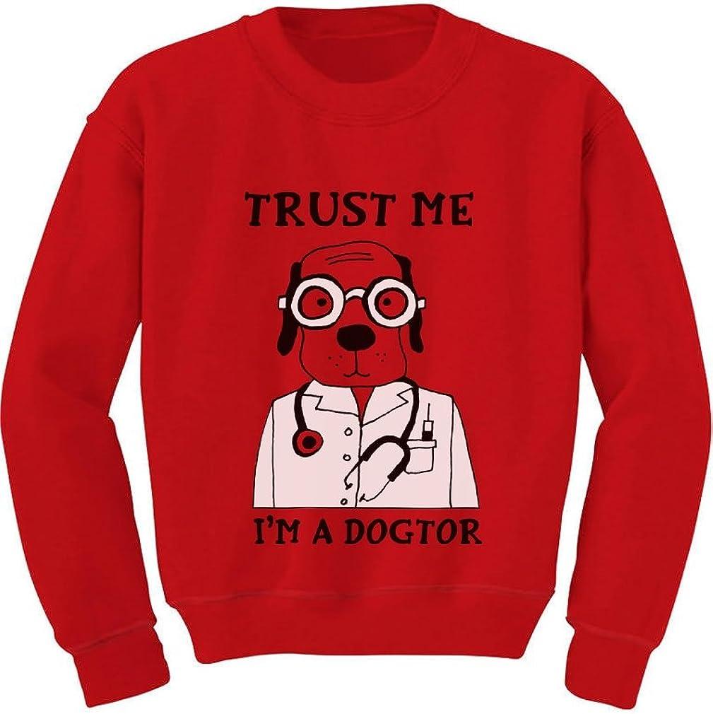 Trust Me Im A Dogtor Funny Doctor Dog Lovers Gift Toddler//Kids Sweatshirt