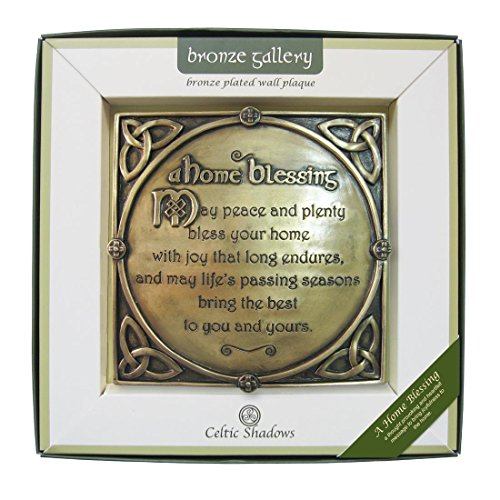 Bronze Plated Wall Plaque With A Home Blessing (Patricks Day Plaque)