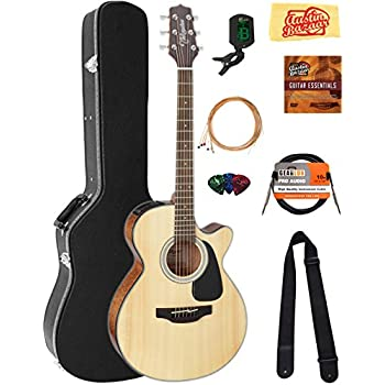 takamine gf30cenat fxc cutaway acoustic electric guitar natural bundle with hard. Black Bedroom Furniture Sets. Home Design Ideas