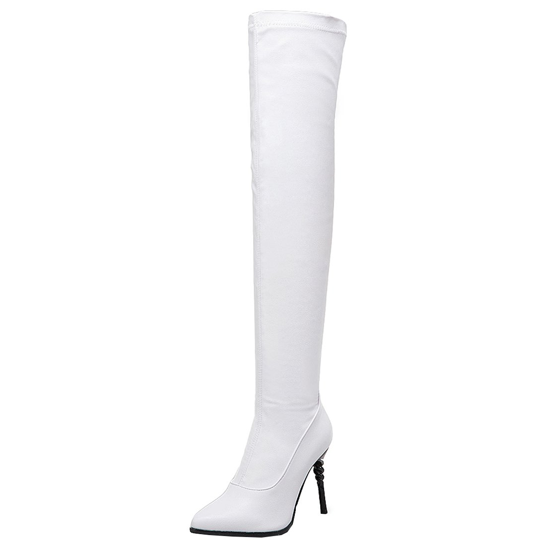 YE Chaussure B076CJK5YJ Bottes Cuissardes Extensibles YE Stretch Femme Sexy Blanc Longue Talon Aiguille Bout Pointu Haute Winter Shoes Boots Chaude Hiver Blanc f18f237 - jessicalock.space