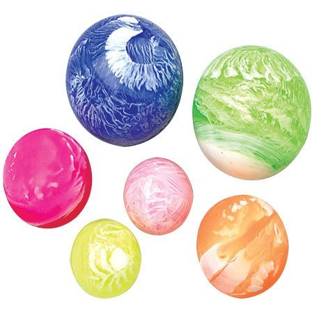 35mm Marbled Rubber Bounce Balls (Rubber Balls Small)