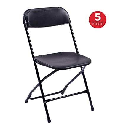 Incredible Amazon Com Stackable Chair 5 Packs Portable Folding Chair Ncnpc Chair Design For Home Ncnpcorg