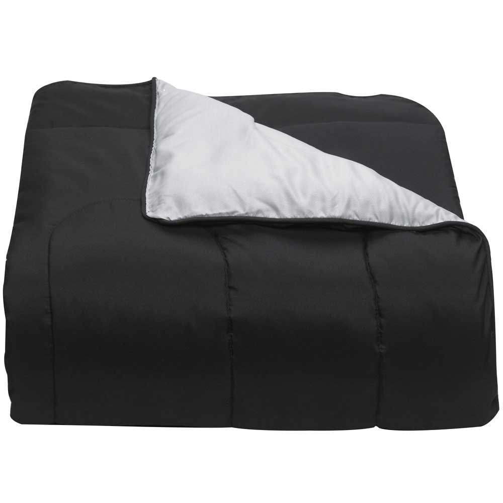 Campus Linens Black and Gray Twin XL Comforter for College Dorm Bedding