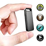 Mini Recorder,XHYAIMS 8GB USB Keychain Sound Voice Recorder for Lectures,Rechargeable Metal Casing Digital Voice Recorder