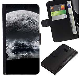 KingStore / Leather Etui en cuir / HTC One M8 / Spazio