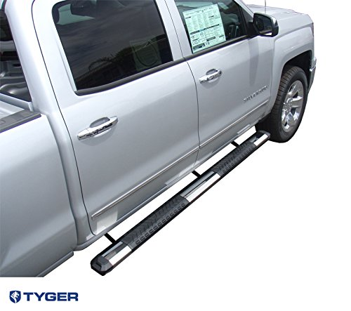 Bar Rampage Nerf Mounting (Tyger Auto Custom Fit 2007-2017 Chevy/GMC Silverado/Sierra Crew Cab 5inch Wide 85inch Long Stainless & Alloy Running Boards Side Step Rails Nerf Bars (2pcs with Mounting Bracket Kit))