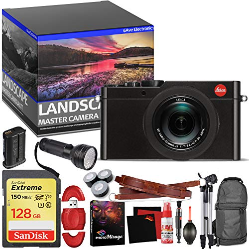 Leica D-LUX (Typ 109) Digital Camera (Black) - Master Landscape Photographer Kit - Memory Card - Accessories (Renewed)