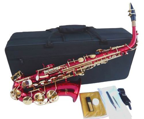 New Red Alto Saxophone Sax w/case-Approved+Warranty by other