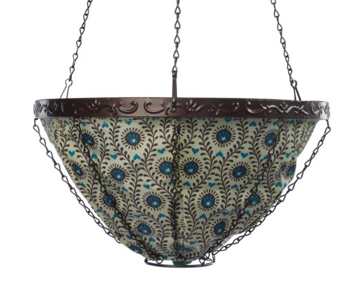 Toland Home Garden Heart Paws 14-Inch 2-Gallon Decorative Insulated Hanging Art Planter Basket 202060 -