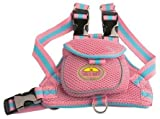 FASHION MESH HARNESS WITH BUILT IN BACK POUCH (PINK - Medium)