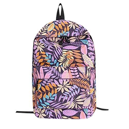 Crazy Promotion!!!♛HYIRI Leaves Printing Students Bags,Women's Backpack Teenage Girls School Backpack Bag ()