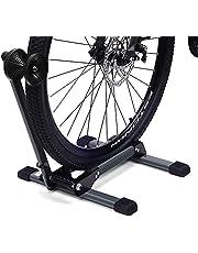 LYCAON Fiets tentoonstellingsstandaard achterwielstandaard (Ultimate Gray) fietsenhouder opvouwbaar - Lite