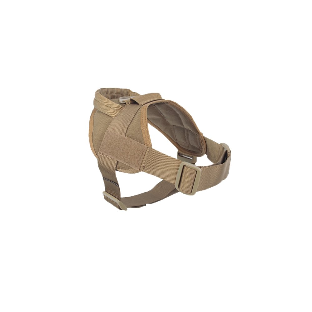 Coyote Brown Large Coyote Brown Large AegisTac Tactical Dog Vest Police Service Dog Military K9 1000D Nylon Patrol Training Hiking Vest Harness (Large, Coyote Brown)