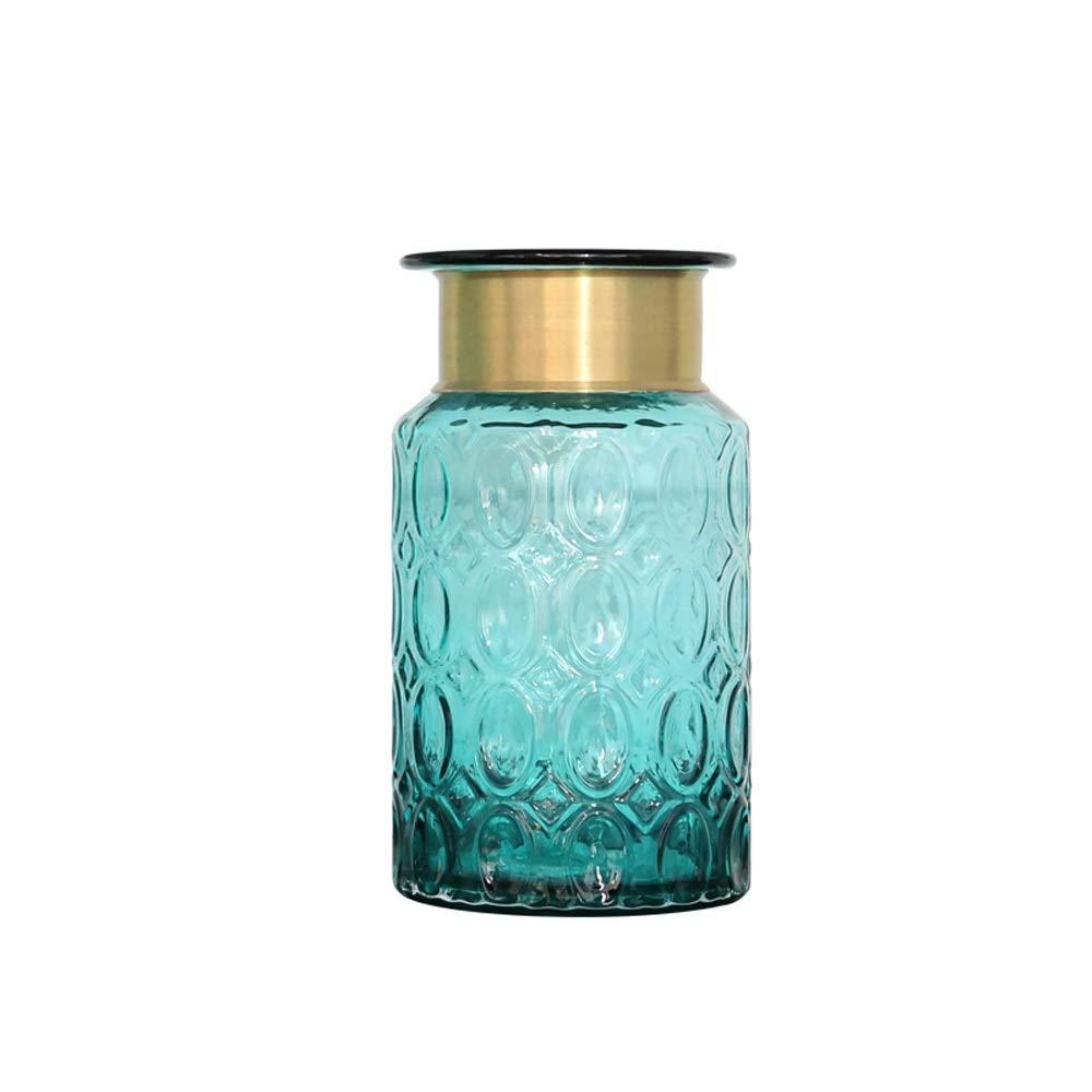 色ガラス花瓶用花緑植物結婚式の植木鉢装飾ホームオフィスデスク花瓶花バスケットフロア花瓶 (サイズ さいず : S s) B07R48J6M9  S s