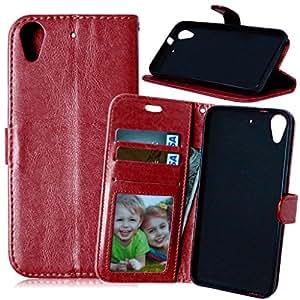 TOMYOU One M8-Funda de piel sintética con tapa, cable incluido [] Syncwire Case Cover-Funda tipo cartera con función atril para HTC One M8 () marrón