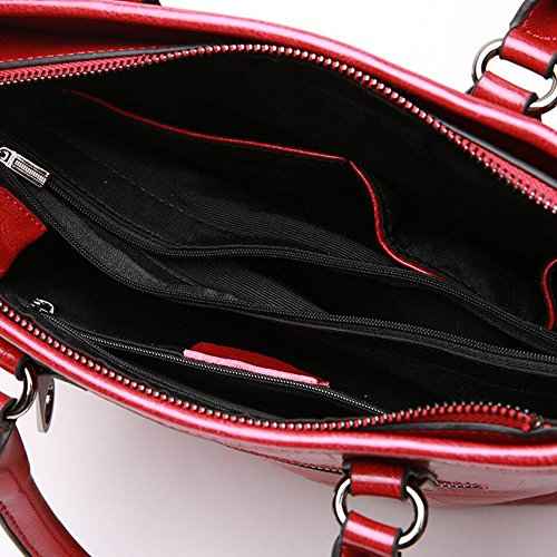 loisirs Sac Rouge main à Travail bandoulière Sac Sac pour en Diagonal la femmes Package Crocodile à main JUNBOSI à Sac cuir cuir en Lady Zipper à main UdwxFTqE5