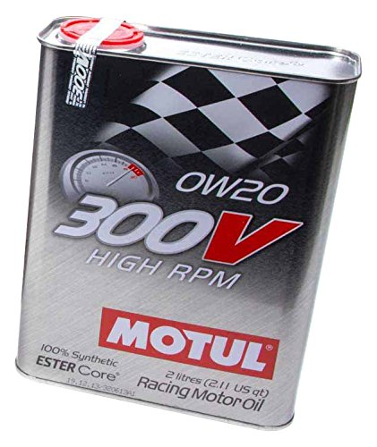 MOTUL 104239 300V 0w20 Synthetic Racing Oil, 12 l, 1 Pack