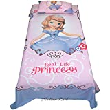 Uber Urban Disney Sofia Princess 100% Cotton Single Bedsheet for Girls with 1 pillow cover