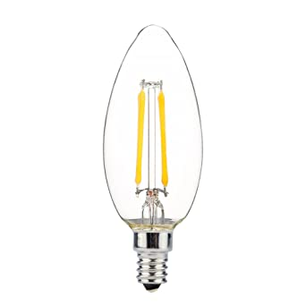 Uncle Light - Bombilla LED de candelabro regulable, casquillo E12, 2 W, 2700