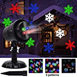 Twinkle Star Christmas Light Projector with 3 Switchable Lenses-Snowflakes/Elf/Fireworks Pattern Multicolor Moving Lights, LED Landscape Spotlight for Indoor Outdoor Holiday Party Xmas Decoration
