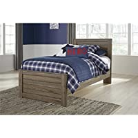 Ashley Javarin Twin Panel Bed in Grayish Brown