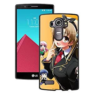Popular And Unique Designed Cover Case For LG G4 With Ah My Goddess Girl Blond Gesture Embarrassment Being black Phone Case BY supermalls