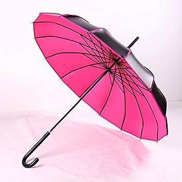 HAN-NMC Paraguas Paraguas,Rosa roja