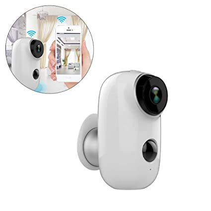 iBàste 8.3 * 6.2 * 19.7 cm Cámara de Seguridad inalámbrica, 1080P HD Bajo Consumo