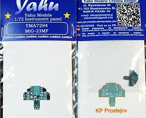 Yahu Model 1:72 MiG-23 MF Color Instrument Panel for KP Prostejov #YMA7294 ()
