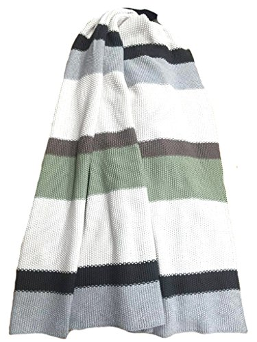 Moss Stitch Luxury Cotton Throw Blanket Rayure Collection By Pink Lemonade 100 Cotton Green White Grey Buy Online In Bahamas At Bahamas Desertcart Com Productid 43927578