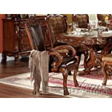 ACME 12154 Set of 2 Dresden Arm Chair, Cherry Oak Finish