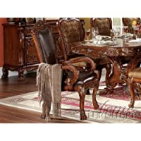 ACME 12154 Set of 2 Dresden Arm Chair, Cherry Oak Finish