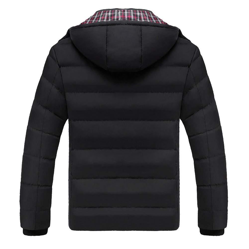 Shuwe Men Boys Casual Warm Hooded Winter Zipper Coat Outwear Jacket Top Blouse