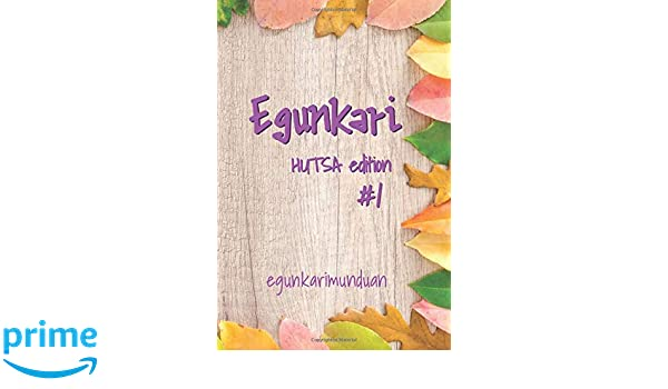 Amazon.com: Egunkari Edition Hutsa 1: 📓✅ Notebook for ...