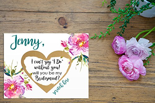 Personalized Will You Be My Matron of Honor Scratch Off Card