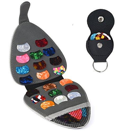 - PlasMaller Guitar Pick Holder Case Bag with 6pcs Acoustic Electric Guitar Colorful Picks 0.46mm/ 0.71mm/ 0.96mm + Little Picks Holder Set