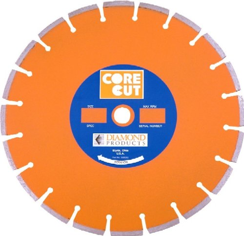 Diamond Products Core Cut 11817 10-Inch by 0.110 by 1-Inch Heavy Duty Orange Dry or Wet Masonry Blade