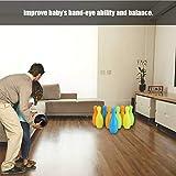 Yinuoday Bowling Set for Kids, Wood Bowling Pins