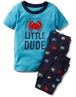 2-Piece Pajama Set Little Dude Crab 24 Months