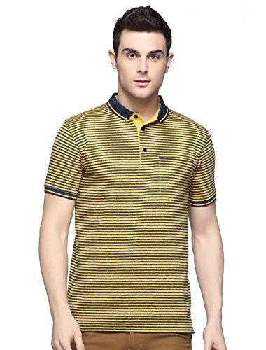 BlackBuck Cotton Polo Neck T-Shirt For Men (Yellow, X-Large) (Team Logo Polo Pique)