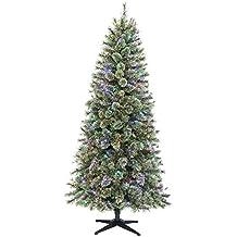 "Polygroup LTD ARP15012 Polygroup Pre-Lit Yukon LED Color Changing Tree, 7.5' x 42"""